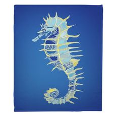 Majestic Seahorse Fleece Throw Blanket