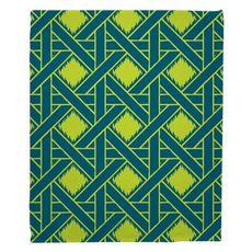 Key Largo - Passport Turquoise & Lime Fleece Throw Blanket