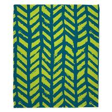 Grand Bahama - Drifter Turquoise & Lime Fleece Throw Blanket
