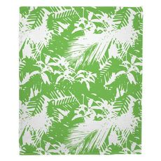 Walker's Cay - Island Getaway Green Fleece Throw Blanket