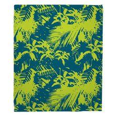 Walker's Cay - Island Getaway Turquoise & Lime Fleece Throw Blanket