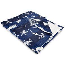 Blue Sea Mix Fleece Throw Blanket
