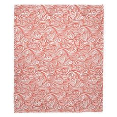 Dreamy Sea Coral Fleece Throw Blanket