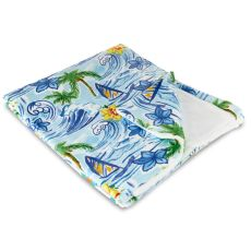 Hawaiian Surf Fleece Throw Blanket