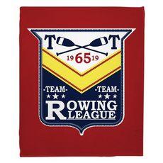 Rowing League Fleece Throw Blanket