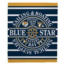Blue Star Sailing Fleece Throw Blanket