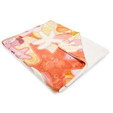 Sea Life Pastel Fleece Throw Blanket