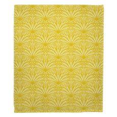 Art Deco Goldenrod Fleece Throw Blanket