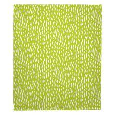 Hipster Lime Fleece Throw Blanket
