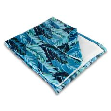 Midnight Jungle Fleece Throw Blanket