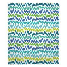 Ocean Vibes Fleece Throw Blanket