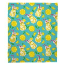 Lemonade Fleece Throw Blanket