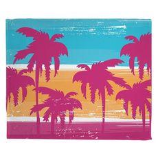 Palm Trees Fleece Throw Blanket
