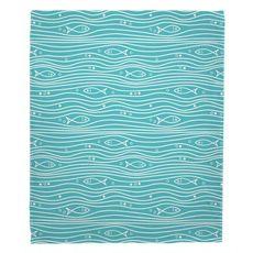 Swimming Fish Fleece Throw Blanket