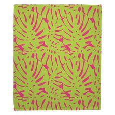 Rain Forest Fleece Throw Blanket
