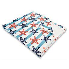 Sanibel Starfish Fleece Throw Blanket