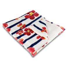 Nasturtiums Fleece Throw Blanket