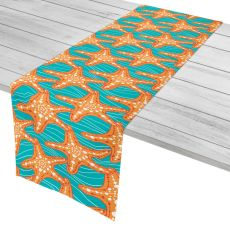 "Starfish In Waves Table Runner - 16""X72"""