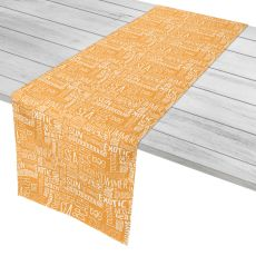 "Beach Vacation Words Table Runner - 16""X90"""