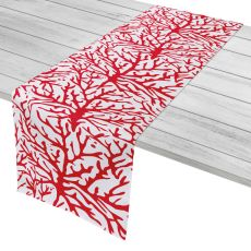 "Coral Red Table Runner - 16""X90"""