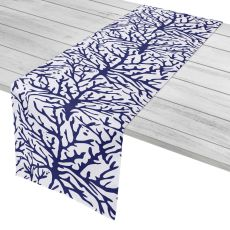 "Coral Navy Table Runner - 16""X90"""