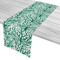 "Coral Green Table Runner - 16""X90"""