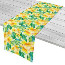 "Plumeria Yellow Table Runner - 16""X90"""