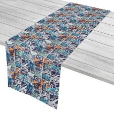 "Surfing Patchwork Table Runner - 16""X72"""
