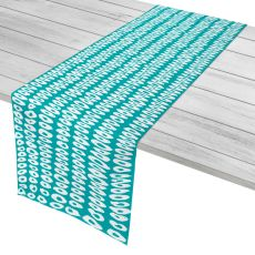 "Doughnuts Aqua Table Runner - 16""X90"""
