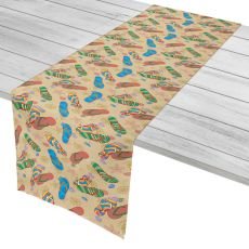 "Beach Flip Flops Table Runner - 16""X72"""