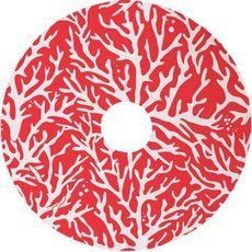 Sea Coral Christmas Tree Skirt - Red