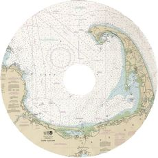 Cape Cod, MA Nautical Chart Christmas Skirt