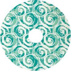 Swirls Christmas Tree Skirt - Aqua