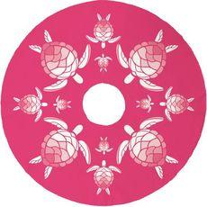 Sea Turtle Christmas Tree Skirt - Pink