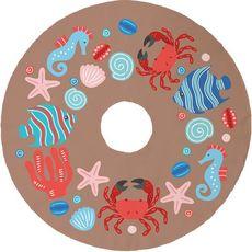 Ocean Drifters Christmas Tree Skirt - Brown
