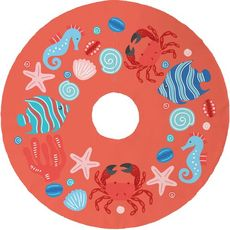 Ocean Drifters Christmas Tree Skirt - Coral