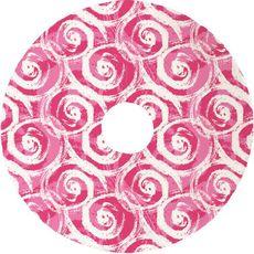 Swirls Christmas Tree Skirt - Pink