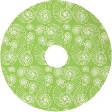 Nautilus Outline Christmas Tree Skirt - Lime