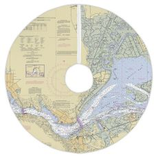 Benicia, California Nautical Chart Christmas Tree Skirt
