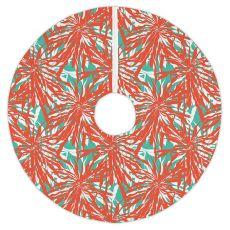 Palm Springs Coral Christmas Tree Skirt