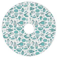 Aqua Shells Tree Skirt