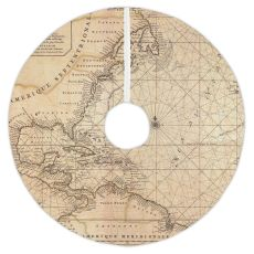 Old World Nautical Chart Christmas Tree Skirt