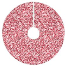 Dreamy Sea Red Christmas Tree Skirt