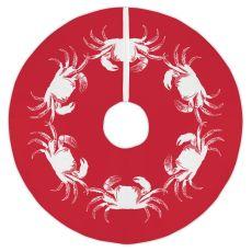 Vintage Crab Red Christmas Tree Skirt