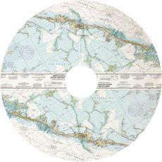 Islamorada, Tavernier, FL Nautical Chart Christmas Tree Skirt