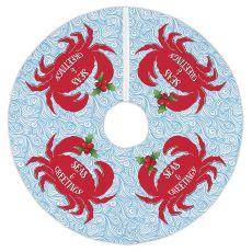 Seas & Greetings Crab Christmas Tree Skirt