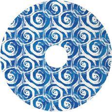 Swirls Blue Christmas Tree Skirt
