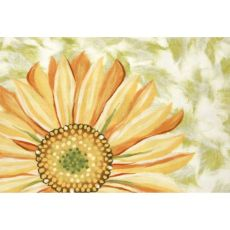 "Liora Manne Illusions Sunflower Indoor/Outdoor Mat Yellow 19.5""X29.5"""