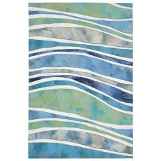 "Liora Manne Illusions Wave Indoor/Outdoor Mat Ocean 19.5""X29.5"""