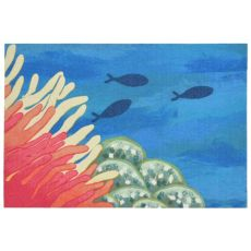 Reef and Fish Accent Rug